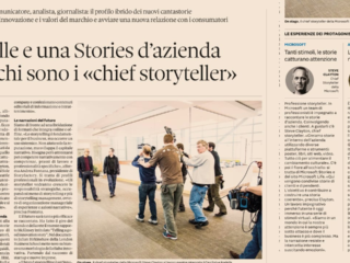 """Il Sole 24 Ore - Le Mille e una Stories d'azienda: le molteplici competenze dei """"chief storyteller"""""""